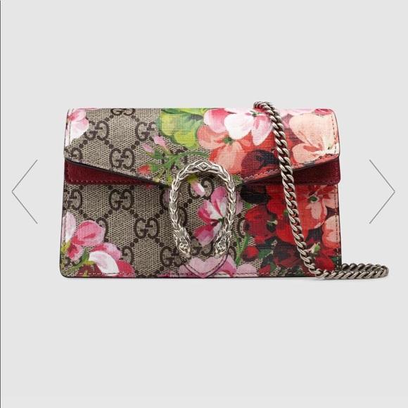 3b9b228d853cd Gucci Handbags - GUCCI Dionysus GG Blooms super mini bag